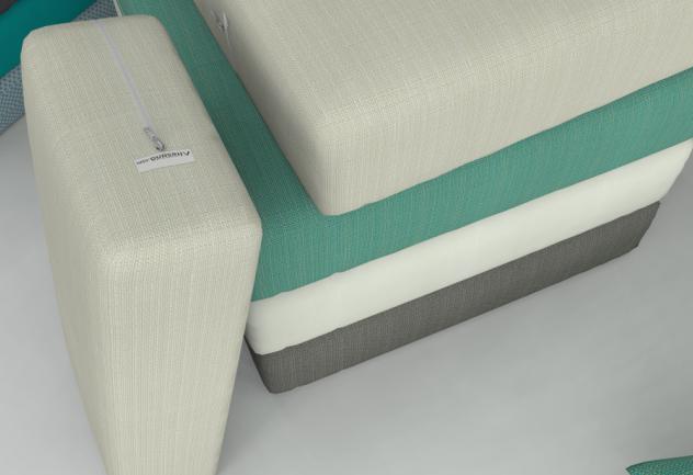 Jastuci za vrtne garniture i jastuci za stolice. Debljina cm, beige, zeleni, sivi