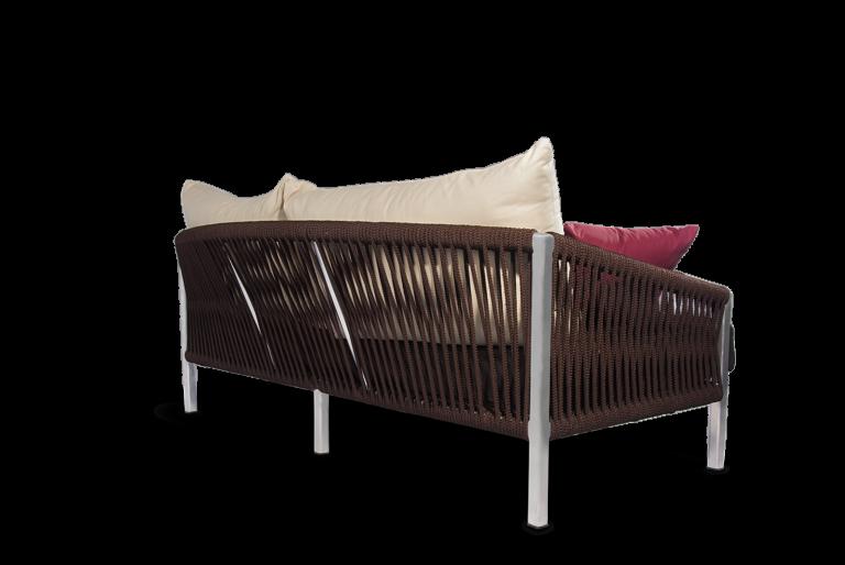 Altesano sofa Rock - komforna sofa iz kolekcije vrtnog namjestaja za hotele od konopa
