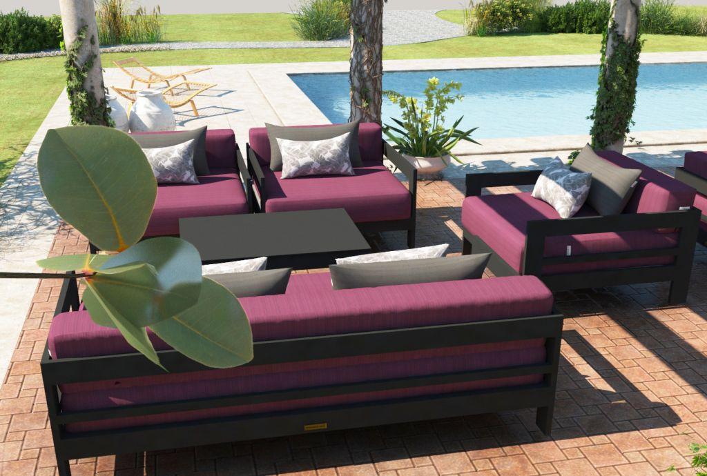 Altesano Luxe vrtna garnitura - Ekskluzivna sjedeća garnitura, vanjski namještaj za hotele i ugostiteljstvo