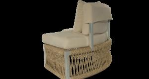 Altesano fotelja za hotele Rounstaja od konopa - vrtni namještaj za hotele
