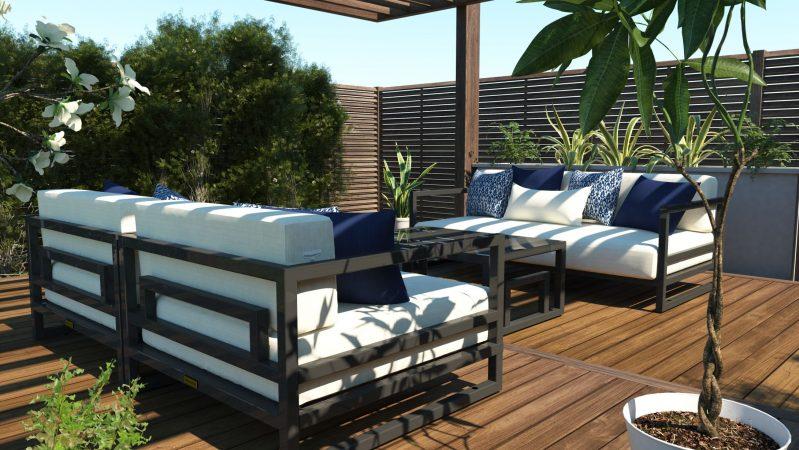 Altesano sjedeća garnitura Resort, ekskluzivan vrtni namještaj, namještaj za hotele
