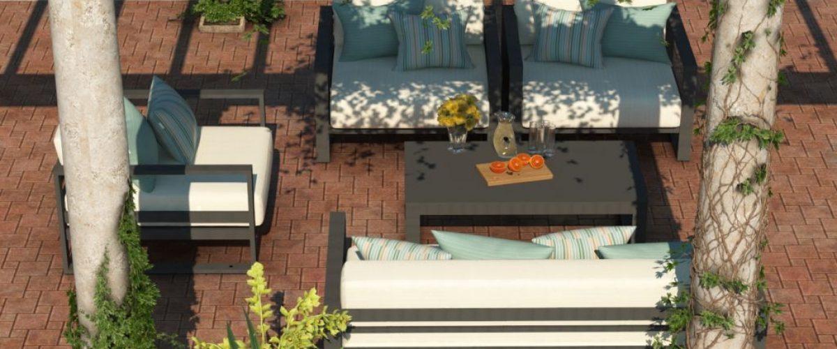 Altesano Zen vrtna garnitura - Ekskluzivni vanjski namještaj za hotele, sjedeća garnitura za izuzetne trenutke opuštanja